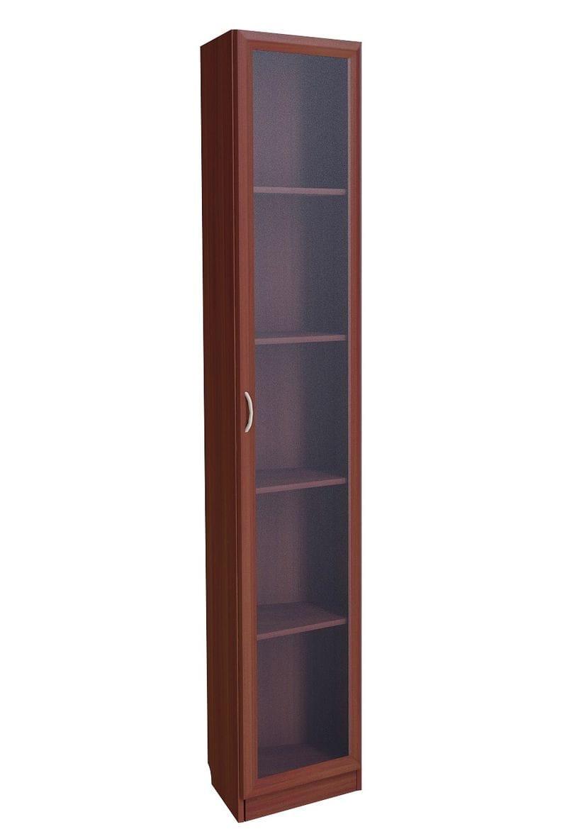 Шкаф завершающий несимметричный со стеклянной дверью С 235 М