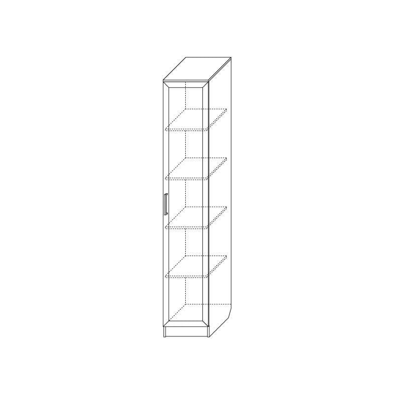 Шкаф однодверный с зеркалом глубокий С 209/1 Г