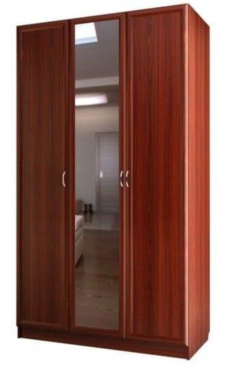 Шкаф для платья и белья 3-х дверный с 1-м зеркалом С 204/1 М