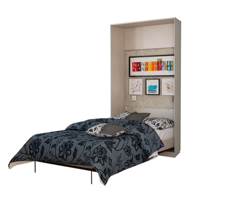 Подъемная кровать вертикальная на 1600 с зеркалом С 312/1 М