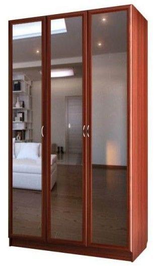 Шкаф для платья и белья 3-х дверный с 3-мя зеркалами С 204/3 М