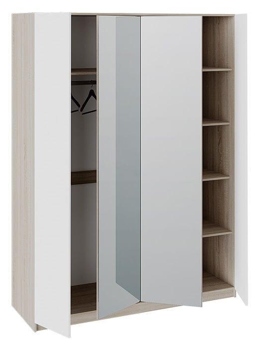 Шкаф комбинированный «Валери» (Дуб Сонома/Белый ясень)