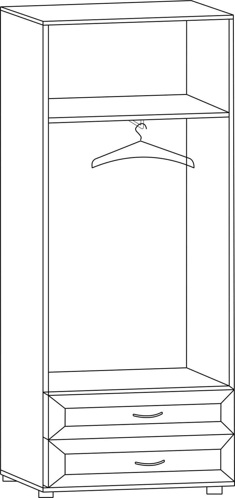 """Шкаф двухдверный с двумя ящиками ШЯ-60Л, """"Вече лайт"""""""