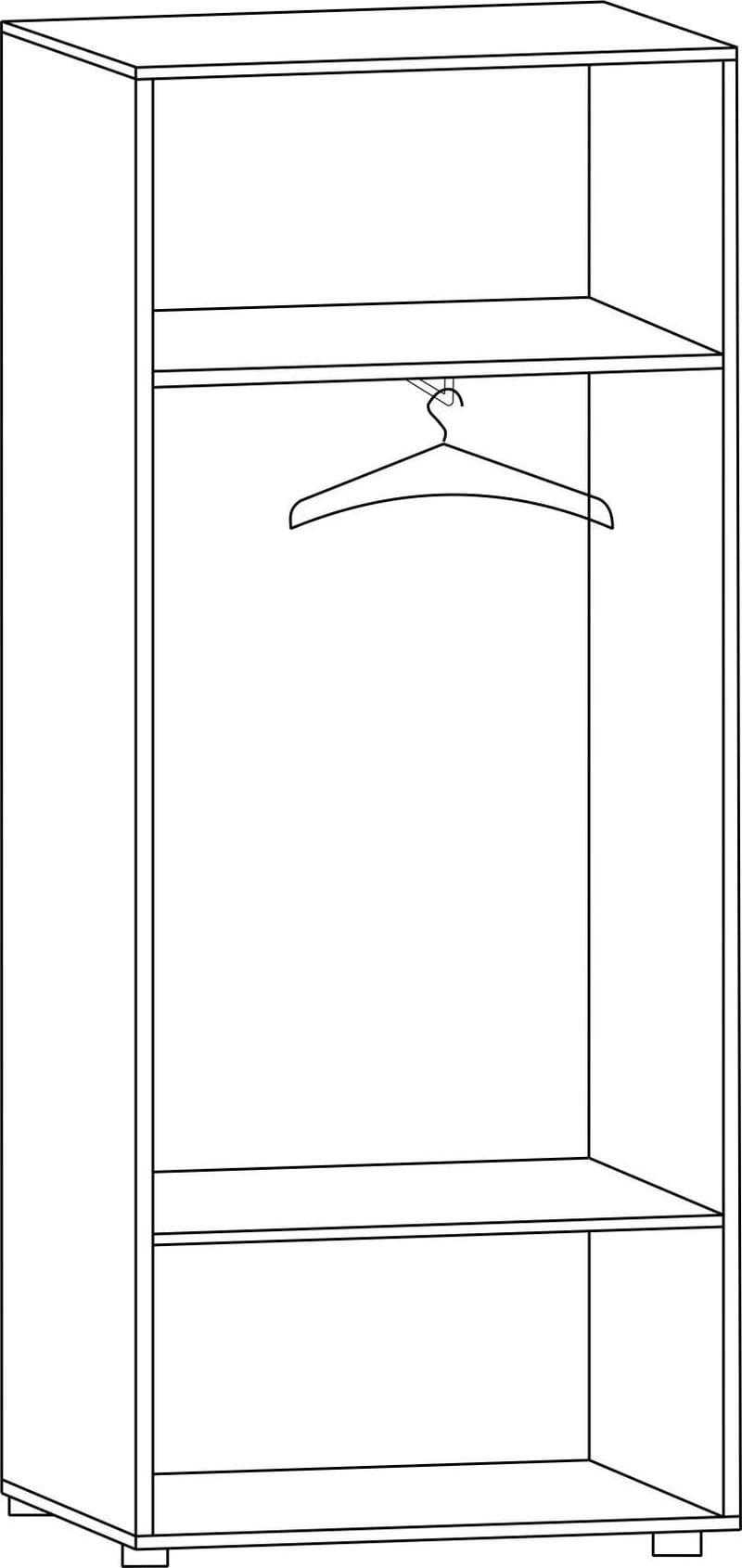 """Шкаф двухдверный для одежды Ш-60Л, """"Вече лайт"""""""