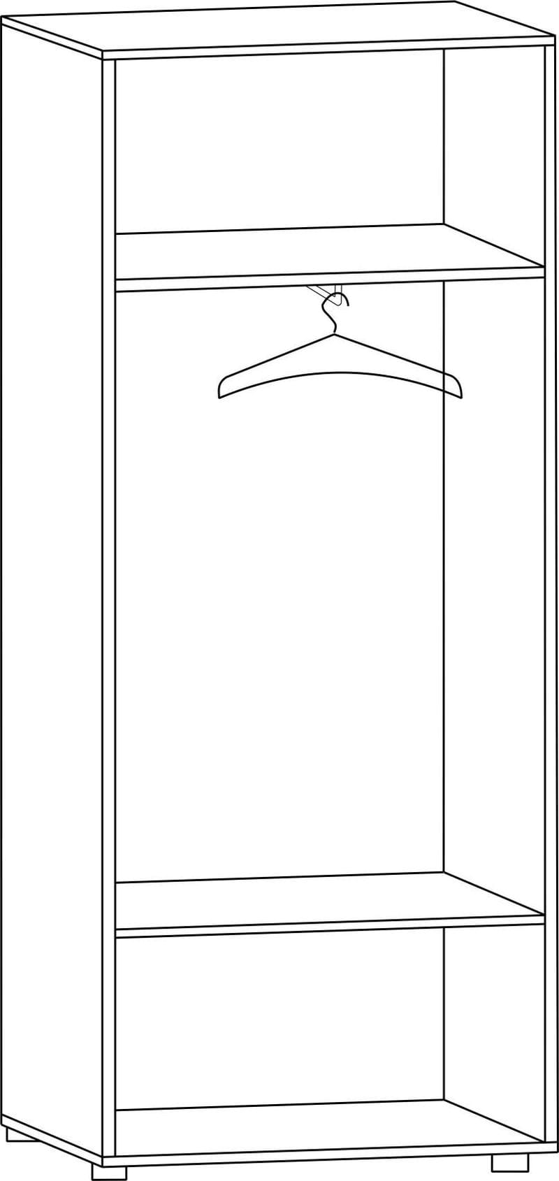 """Шкаф двухдверный для одежды с зеркалами Ш-61Л, """"Вече лайт"""""""