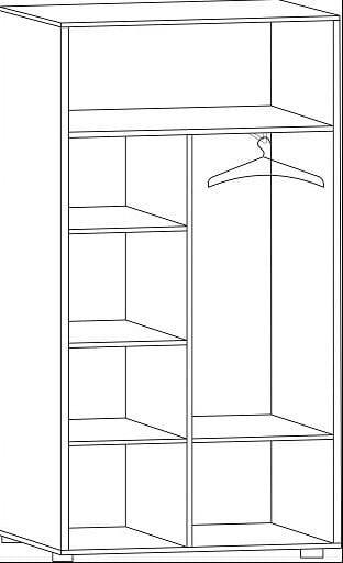 Комбинированный шкаф с зеркалом Ш-85