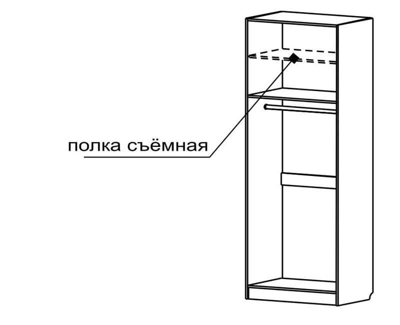 Шкаф для платья 2-х дверный С 401 М