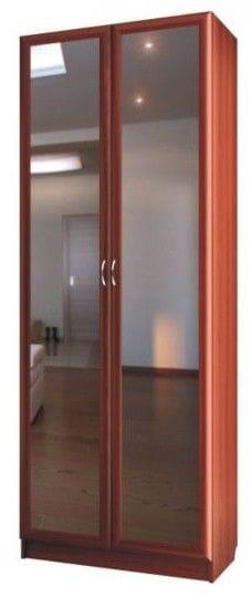 Шкаф для платья и белья 2-х дверный с зеркалами C 402/1 M