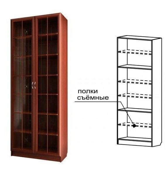 Шкаф для книг с большими стеклянными дверями С 406/1 M