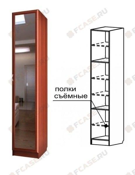 Шкаф узкий с зеркалом С 409/1 М