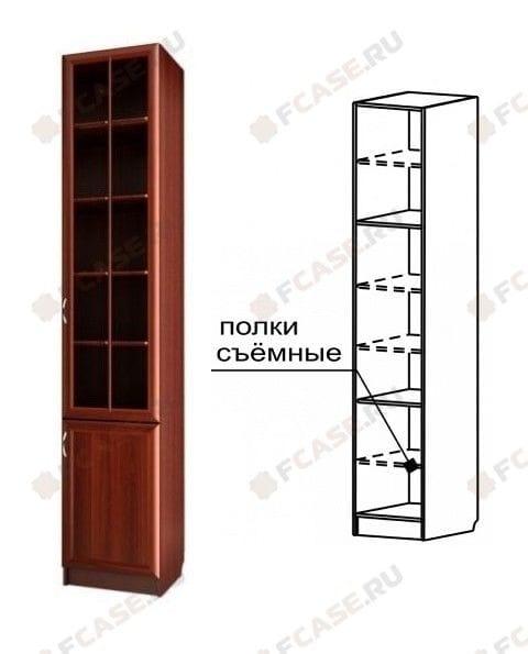 Шкаф для книг узкий С 410 М