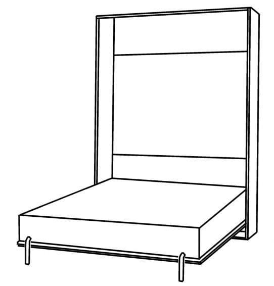 Кровать с подъемным механизмом с 525 м