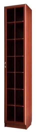 Шкаф для книг узкий с большой стеклянной дверью С 410/1 М
