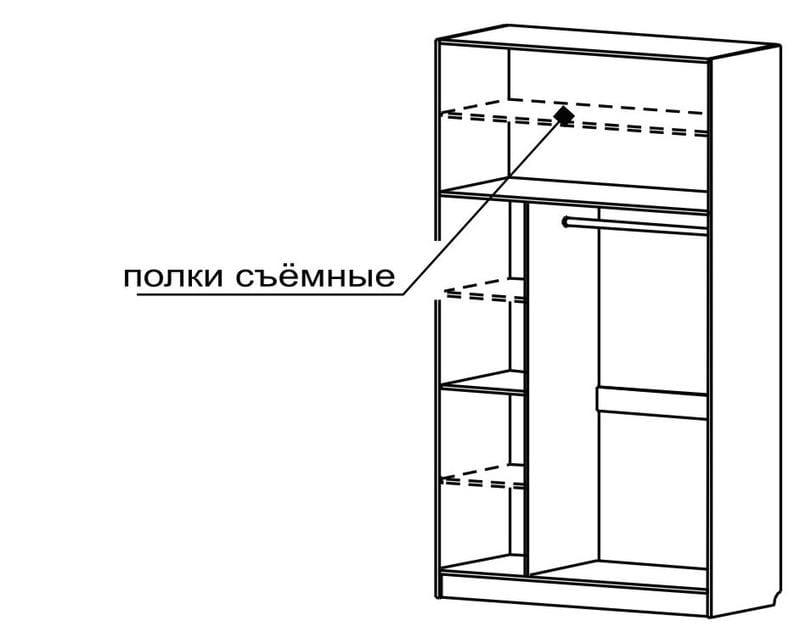 Шкаф для платья и белья с С 404/2 М